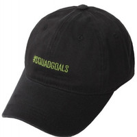 #Squad Goals Embroidered Weekend Baseball Hat