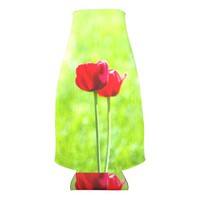 Two red tulip flowers bottle cooler