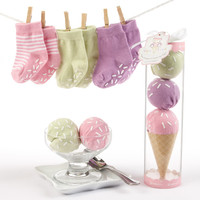 Baby Aspen Sweet Feet Three Scoops of Socks Gift Set