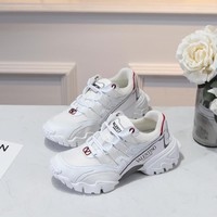 """Valentino  Women Fashion """"Monogram Empriente"""" Casual Sneaker sport running Shoes top quality  size 36-40 white"""