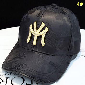 NY Fashion New Embroidery Letter Diamond Women Cap Hat 4#