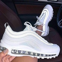 Nike Air Max 97 Triple White Cushioning Sneakers Shoes