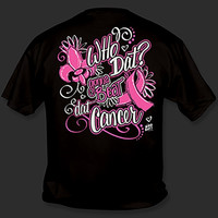 Sweet Thing Funny Who Dat Pink Ribbon Beat Breast Cancer Fleur De Lis Girlie Bright T-Shirt