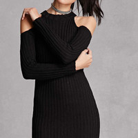 Open-Shoulder Bodycon Dress