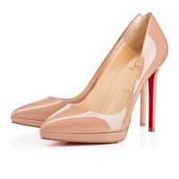 Best Online Sale Christian Louboutin Cl Pigalle Plato Nude Patent Leather 120mm Stiletto Heel Classic
