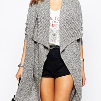 Gray Long Sleeve Cardigan