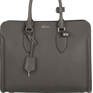 Alexander McQueen - The Heroine textured-leather tote