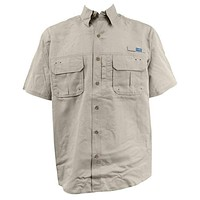 Technical Fishing Shirt in Khaki by AFTCO