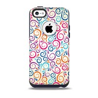 The Bright Colored Vector Spiral Pattern Skin for the iPhone 5c OtterBox Commuter Case