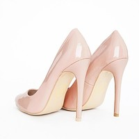 Missguided - Isabel Pointed Stiletto Court Heels Nude Patent