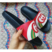 Gucci Double G color matching slippers-1