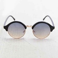 Tinted Faded Round Sunglasses- Black One