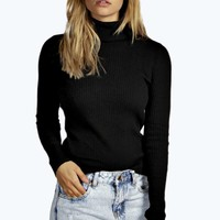 Laura Rib Knit Turtle Neck Jumper