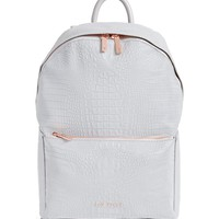 Ted Baker London Rahri Reflective Croc Embossed Faux Leather Backpack | Nordstrom