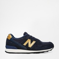 New Balance | New Balance 996 Suede/Mesh Blue and Gold Trainers at ASOS