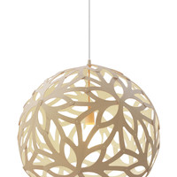 Floral Pendant Lamp All White