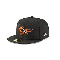 """New Era Baltimore Orioles """"GREY BOTTOM"""" 59Fifty Fitted Cap"""