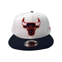 New Era 59FIFTY White Chicago Bulls Fitted Hat