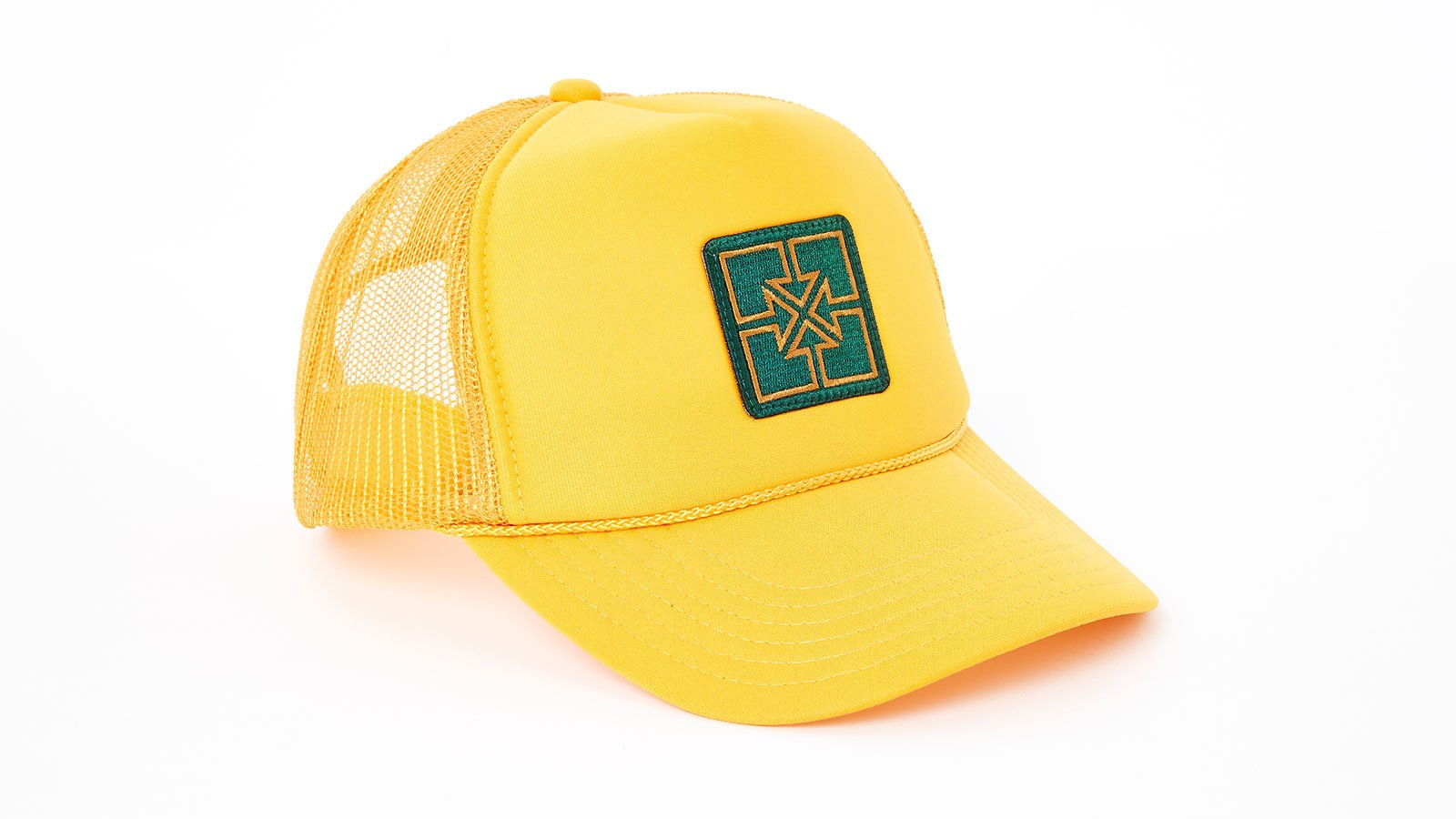 Image of Fit Key Patch Trucker Gold With Green Patch