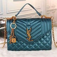 Perfect YSL Yves Saint Laurent Women Shopping Fashion Leather Chain Satchel Shoulder Bag Crossbody