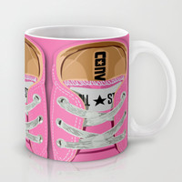 Cute converse all star pink baby shoes Mug by Three Second