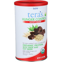 Tera's Whey Hunger Control - Sateity Blend - Fair Trade Certified Dark Chocolate Cocoa - 12 Oz