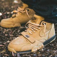 Nike Air Trainer 1 Mid Premium NSW Flax Basketball Shoes 607081-201 Sneaker - Best Online Sale