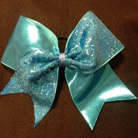Light Blue Swirl Sequin [Tick Tock] - $15.00 : GLITZ Cheer BowZ, Custom Products From Your Head To Your Toes