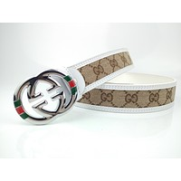 GUCCI Stylish high-end joker belt with smooth buckle belt-6