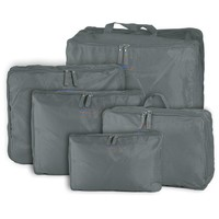 luggage Sell 5X Set Storage Tidy Pouch Polyester Red Blue Pink Gray