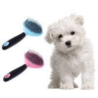 Pet Dog Comb Long Hair Brush Plastic Handle Puppy Cat Massage Bath Brush Multifunction Pet Grooming Tool Dogs Combs Cats Brushes