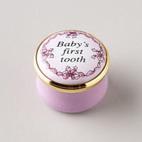 Halcyon Days Enamels Pink Babys First Tooth Box