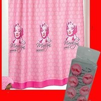 Marilyn Monroe Shower Curtain and Match Hooks Set