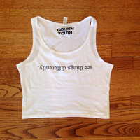 see things differently tank too cropped Brandy Melville Inspired golden youth apparel womens clothing