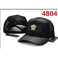 RED Versace Classic Baseball Cap Sun Cap Tennis Cap Sports Hat for Women Men Adjustable