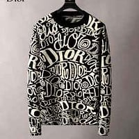 Dior Men and women fashion warm casual sweater Hooded