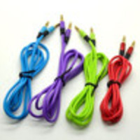 Lot 4PCS x 120cm 4FT Aux Cable Male to Male M/M 3.5mm Audio Stereo Cord for iPhone iPod MP3 - Default