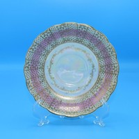 Royal Sealy Pink Iridescent Saucer FREE SHIPPING Vintage Japan Replacement China Pink Gold Saucer Afternoon Tea Party Hollywood Regency