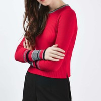 Stripe Cuff Crop Top - Trending Now - New In