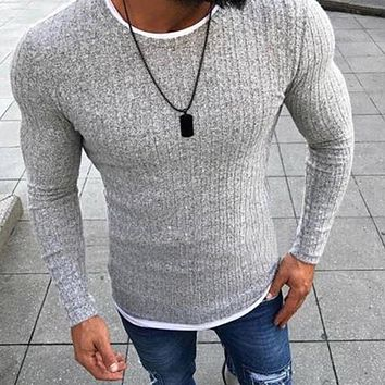 Men Fashion Pullover Knitted Sweater Tops