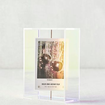 Instax Iridescent Acrylic Spinning Picture Frame   Urban Outfitters