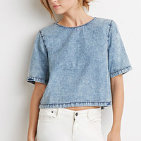 Boxy Denim Top