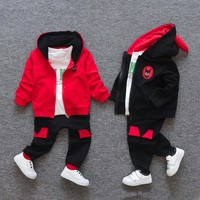 children clothes baby boys clothing sets autumn winter cotton casual boys tracksuits long sleeve T-shirt pants for 1 2 3 4 years
