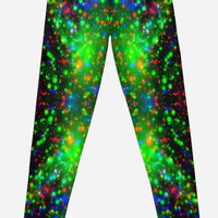 'Neon Digital Spots' Leggings by ChessJess