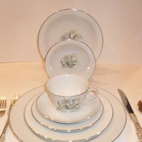 Stunning 12-place China Set with 7 Serving Dishes-101 pieces total