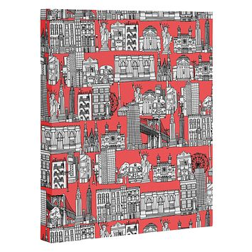 Sharon Turner New York Coral Art Canvas