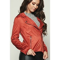 Map It Out Moto Jacket (Brick)