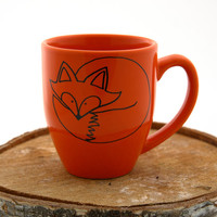 Personalized fox mug, tulip shape