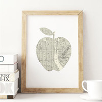 'New York City Big Apple' Street Map Art Print
