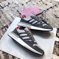 Adidas ZX 500 Boost Gray/Red Sneaker Size 36-45